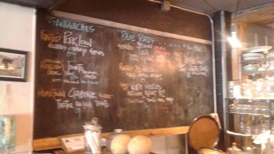 Franklin, NC: Menu board, easy menu