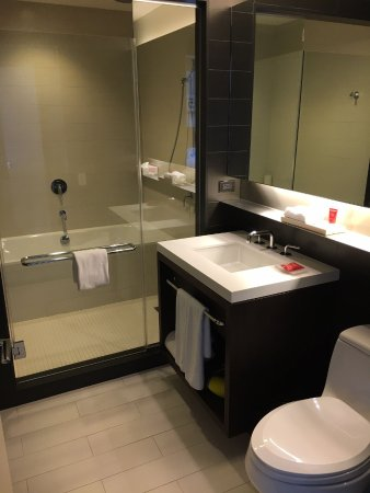 Bathroom with a wet room shower/tub enclosure - Picture of Hyatt ...