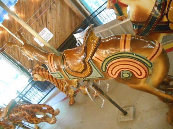 Upper Marlboro, MD: Back of the kangaroo on the Watkins Park carousel