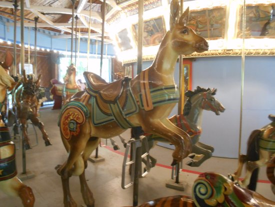 Upper Marlboro, MD: Kangaroo from the front on the Watkins Park Carousel