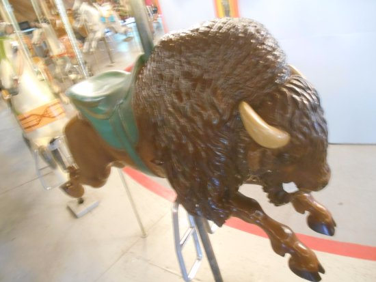 Upper Marlboro, MD: Extremely rare bison (buffalo) on the Watkins Park carousel