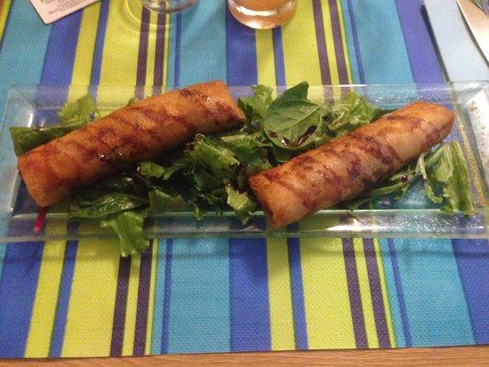 Le Cro Marin: Croustillant crevette/cantal/poireaux