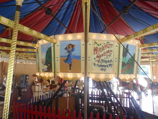 Miniature Train and Carousel at Wheaton Regional Park: Upper panels on the Wheaton Park carousel