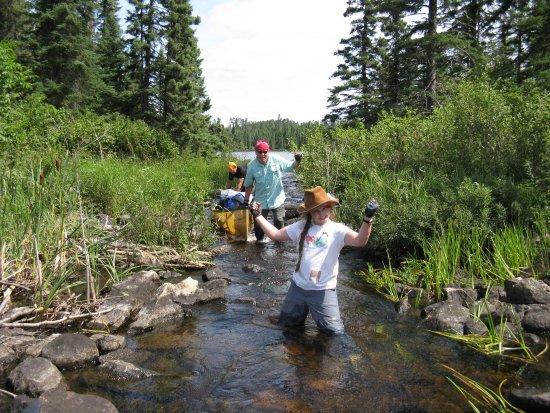 Ely, MN: avoiding a portage on McEwin Creek