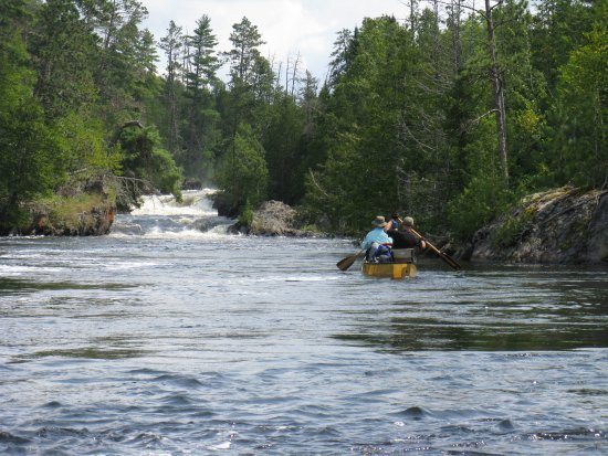 Ely, MN: approaching portage in the falls chain