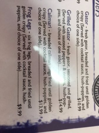 Poplar Bluff, MO: Sample food and prices