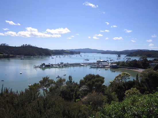 Crows Nest Villas: View over Opua wharf