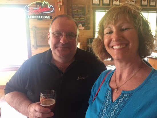 Chippewa Falls, WI: My lovely wife with John, the head brewmaster!
