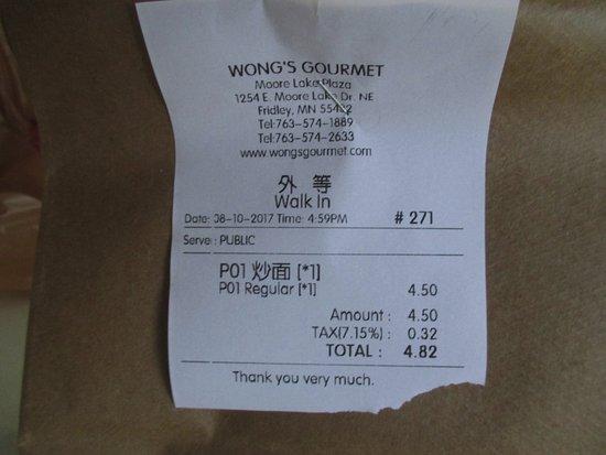 Fridley, MN: My bill