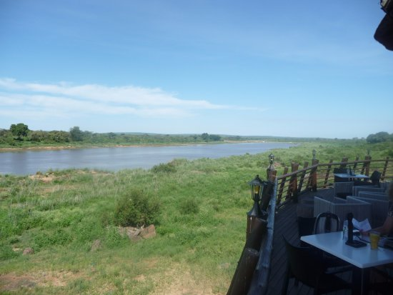 Crocodile Bridge Rest Camp: view from Mugg and Bean