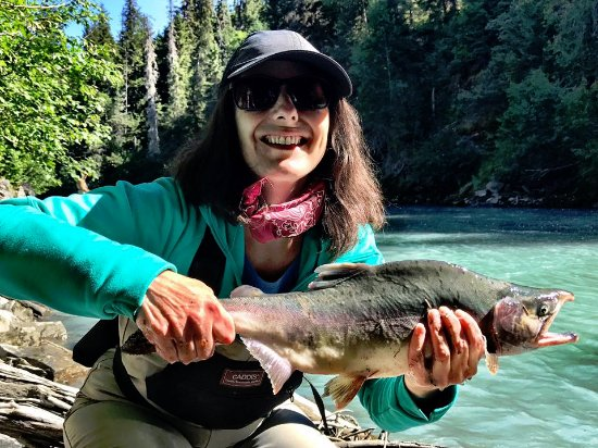 Hope, AK: Great salmon fishing from our lodge!