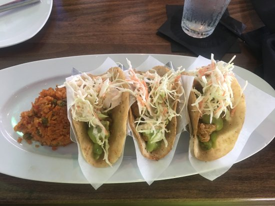 Fish tacos picture of the wicked tuna murrells for Tuna fish tacos