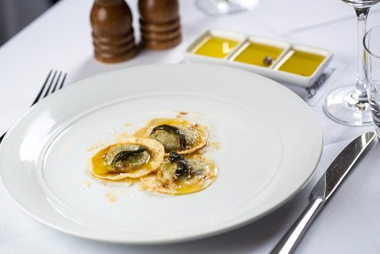 The Restaurant Pendolino: Hand-Made Spinach Ravioli, Artisan Cheese, Burnt Butter, Sage