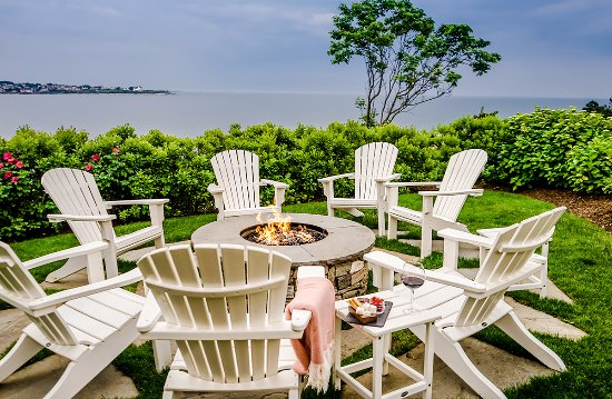 The Chanler at Cliff Walk: Spend an evening having s'mores and wine at our fire pit.