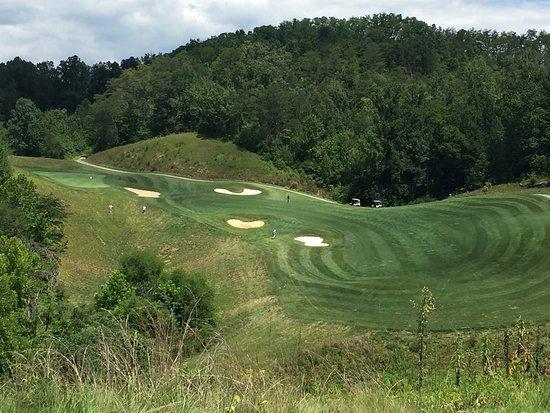 Whittier, Carolina del Norte: Hole No. 4 winds around