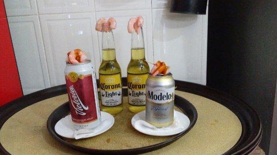 RESTAURANTE PULPO LOCO : Cervezas con Camarones