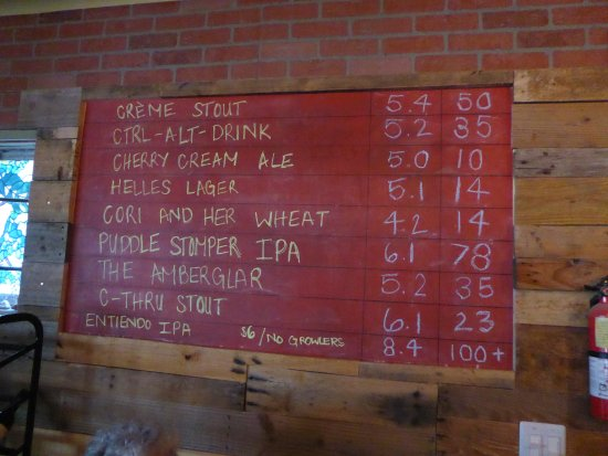 Bernalillo, Nuevo Mexico: Beer menu