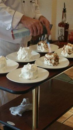 The Villages, FL: Preparing Baked Alaska