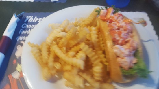 Old Town, ME: Lobster roll with fries