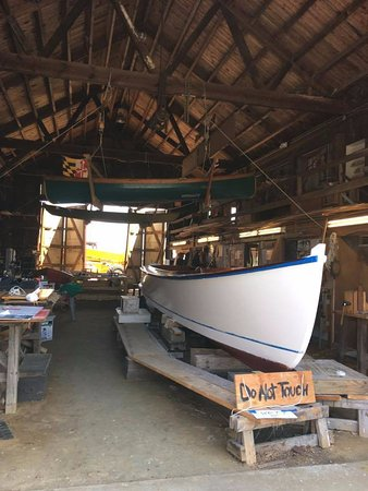 St. Michaels, MD: Working Boatyard Building