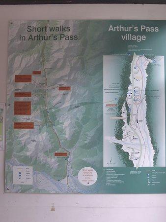 Arthur's Pass National Park, Nouvelle-Zélande : Arthur's pass walking trail Maps