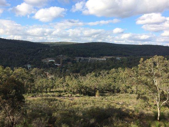 Mundaring, Australia: View of dam from Golden View platform, South Ledge/Ridge