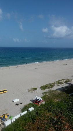 Singer Island, FL: Beach area..view from 8th floor