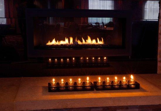 Brooklyn Park, Μινεσότα: Lobby Fireplace