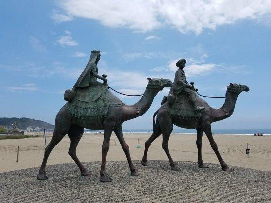 Tsuki No Sabaku Memorial Statue