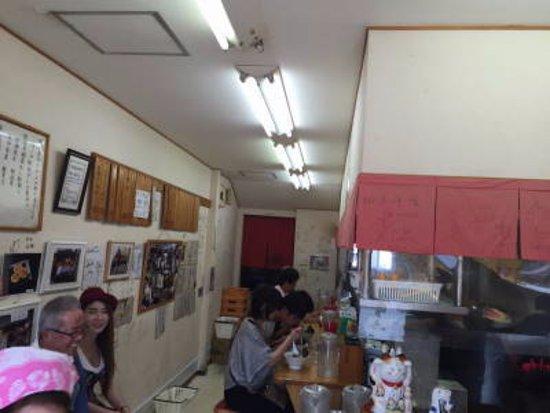 Yukuhashi, Japan: 店内は、狭くカウンターだけです。