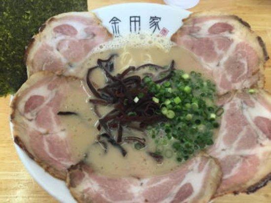 Yukuhashi, Japan: 黒豚ラーメン チャーシュー麺