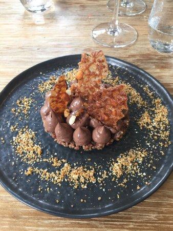 Jodoigne, Bélgica: Croustillant chocolat, ganache chocolat 70%