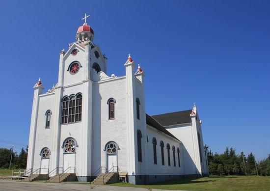 Port au Port, Canada: Exterior of the church
