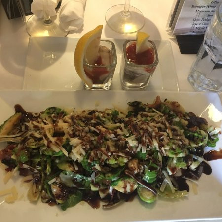 Twisted Fish Steakhouse: Oyster Shooters and Brussels Sprouts