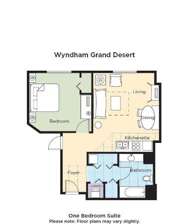 Wyndham Grand Desert Suite Floor Plan - Picture of Wyndham Grand ...