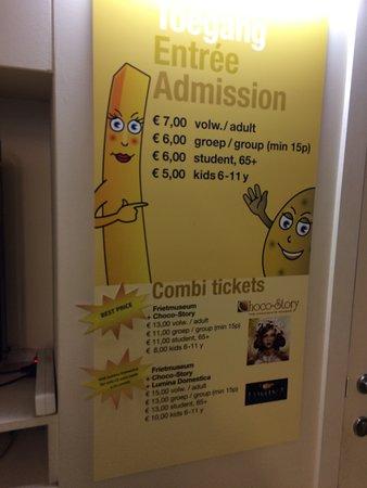 Friet Museum : Preços