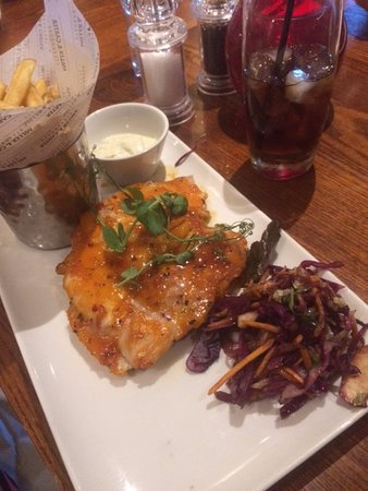 Potters Bar, UK: Chilli & Honey glazed chicken