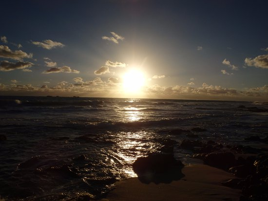 Burns Beach, Australien: インド洋に沈む夕日です