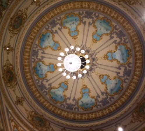 Everyman Theatre: Ornate roof worth a look but I would look at the stage when the play is running!