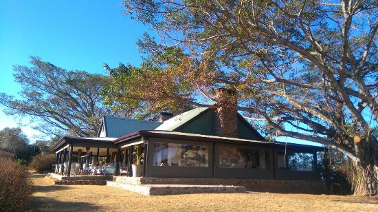 Addo, Sudáfrica: The restaurant and stoep