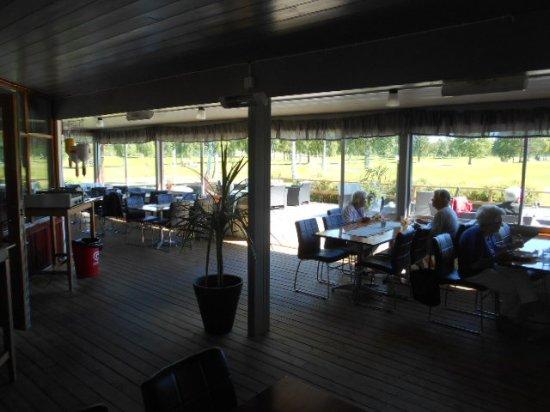 Ljusdal, Sverige: Restauranginteriör.