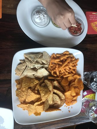 Cafe Delhi Heights: Chips and Dips