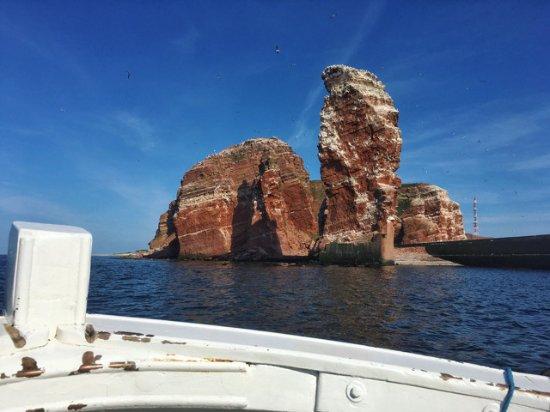 Lange Anna: Inselrundfahrt im Börteboot - tolle Ansicht der Langen Anna