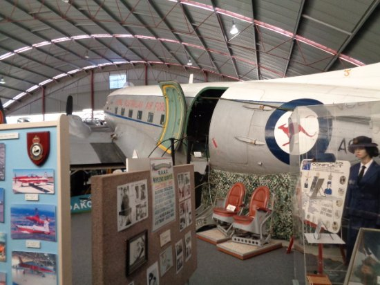 Aviation Heritage Museum : Royal Australian Air force DC3 if you ask you can sit in the pilots seat