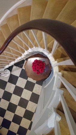Fernhill Hotel: Stairway from Reception