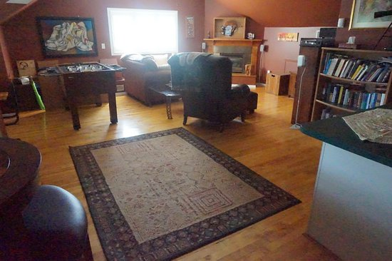 Third Floor Games Room with Gas fireplace, foosball, kitchenette
