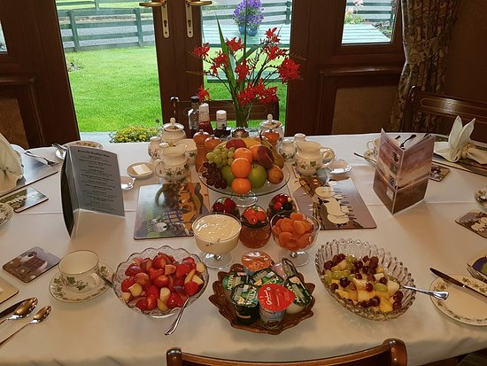 Brockville Bed and Breakfast: La table du petit déjeuner ....un régal!