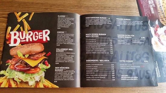 sausalitos karte Karte   Mädchen Burger und Vegan/Vegetarisch   Picture of