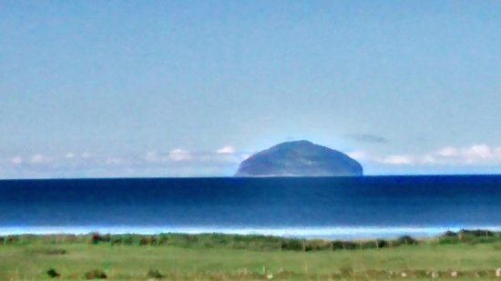Turnberry, UK: Ailsa Craig view from Balkenna Tearoom - more than just a tearoom