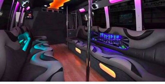 Orange, Βιρτζίνια: Inside of our Limousine Bus